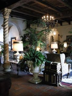 Lobby Han Park Golden Age Of Hollywood Old Homes Spanish