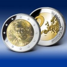 2 Euro Gedenkmünze Italien 200. Geburtstag Verdi