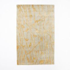 Botanical Twigs Wool Rug - Oatmeal/Gold | west elm; NO round option, dining room?