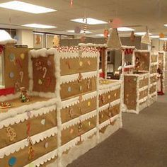 office christmas decorations ideas. Christmas In The Office Fun Ideas - Gingerbread Cubes. What A Blast! Decorations H
