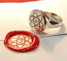 Atom Wax Seal Ring Coin Signet Seals