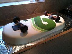 Skateboard Cake For 6 Year Old Boy S Birthday cakepins.com
