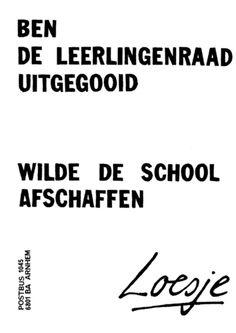 BEN DE LEERLINGENRAAD UITGEGOOID - WILDE DE SCHOOL AFSCHAFFEN | #Loesje #School