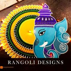 Check out latest ganesh rangoli designs and patterns which you can use to decorate your home this ganesh chaturthi. Rangoli Designs Peacock, Easy Rangoli Designs Diwali, Rangoli Simple, Indian Rangoli Designs, Rangoli Designs Latest, Simple Rangoli Designs Images, Free Hand Rangoli Design, Small Rangoli Design, Rangoli Patterns