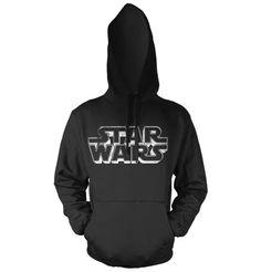 Star Wars Distressed Logo Hoodie (Black) | Nerdeportalen