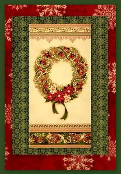 Easy Fabric Panel Christmas Quilt Kit Holiday Flourish Quick Beginners