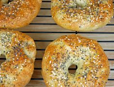 Homemade bagels!  Awesome recipe.  So easy!