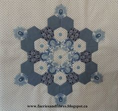 In January I launched my first ever quilt along (QAL). I am a hexie lover so there had to be hexagons in the quilt. I called it Soupcon whic. Hexagon Quilt Pattern, Hexagon Patchwork, Hexagon Quilting, Paper Piecing Patterns, Quilt Patterns, Quilting Projects, Quilting Designs, Millefiori Quilts, English Paper Piecing