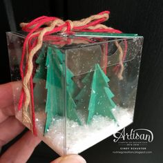 A mini snow globe box! ~ Cindy Schuster