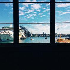 Look outside the window and see... #beauty #sydney #circularquay #cbd #shouldistoprhyming #yes #vscocam #harbour #cruise #bridge #snapsydney @snapsydney #photography #australia #sea #clearbluesky #sydneyharbourbridge #sydneylife #sydneylocal #ilovesydney #ferry by scrypton http://ift.tt/1NRMbNv