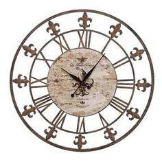 Round Wall Clock - Fleur Di Lis