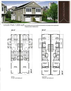 Duplex Plan Architecture Blueprints House Floor Plans