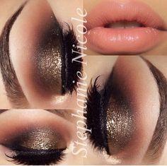 sparkly smokey eye