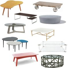 cocktail tables.