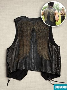 The Walking Dead Accessory/Acessórios | DARYL'S VEST | O Colete de Daryl | Fonte: Entertainment Weekly