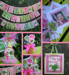 Girlie Frog Birthday Party Decorations Package  by LePoppyDesign, $85.00