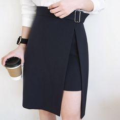 Cute Assymetric Pencil Skirt YV2019
