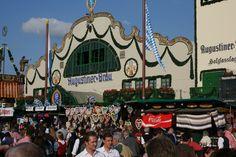 A beer tent at Oktoberfest, Munich, Germany, 2001.