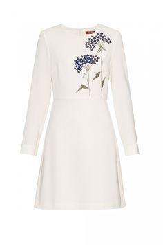 Pool dress by Max Mara Studio White A Line Dress, White Long Sleeve Dress, Long Sleeve Evening Dresses, White Floral Dress, The Dress, Floral Dresses, Dress Long, Sleeve Dresses, Evening Gowns