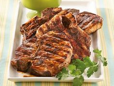 Southwestern Grilled Pork Chops with Peach Salsa Recipe from Betty Crocker Mexican Food Recipes, New Recipes, Favorite Recipes, Healthy Recipes, Dinner Recipes, Dinner Ideas, Kraft Recipes, Yummy Recipes, Pork