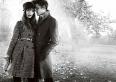 Burberry Ad 2008...great couple poses and love the B/W