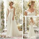 ❧❋ White ivory Lace Bridal Gown beach Wedding Dress Custom Size 6 8 10 12... http://ebay.to/2vRe4Qe