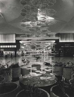 Northland Shopping Centre, 1967. Northland was originally built & owned by the Myer Emporium, it opened for business on 4th October 1966 as Victoria's first & largest indoor shopping mall. The land was sold by the Housing Commission, It had housed the migrant camp of nissen huts built in 1952 to accommodate the influx of new Australians. The original shopping centre consisted of 3 malls radiating north, east and west from a centre stage area.