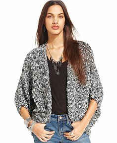 American Rag Marled-Knit Cocoon Sweater - Juniors Sweaters - Macy's