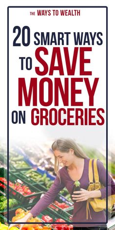 These 20 practical tips will show you how to save money on groceries by strategizing, maximizing your savings, shopping smart and staying away from traps. Money Saving Meals, Save Money On Groceries, Ways To Save Money, Financial Tips, Financial Planning, Money Plan, Managing Your Money, Frugal Living Tips, Budgeting Money
