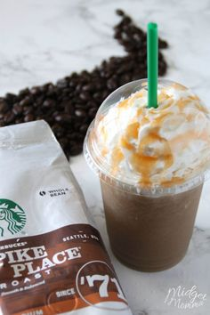 This Salted Caramel Frappuccino Starbucks Drink Copycat is amazing, it took a bit for me to get the recipe just right but it is perfect! I know you are going to love this Salted Caramel Frappuccino that you can make right at home! Healthy Starbucks Drinks, Starbucks Recipes, Coffee Recipes, Yummy Drinks, Drink Recipes, Fancy Drinks, Dessert Drinks, Desserts, Dessert Recipes
