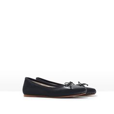 Image 2 of LEATHER BALLERINA FLATS from Zara