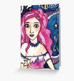 Sea Stardust  Greeting Card Mermaid Artwork, Mermaid Quotes, Original Art, Original Paintings, Mermaid Illustration, Watercolor Mermaid, Mermaid Tale, Pink Art, Surface Pattern