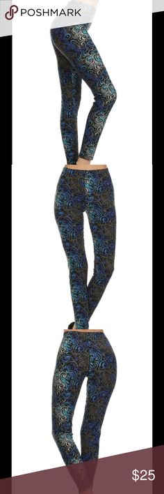 "Roxy Leggings The most comfortable and softest leggings! Wear it to the gym, yoga, or even on a night out!  Comfortable elastic waist band, stretchy, and flattering fit!  ✔One size fits 2-16 (XS-XL) ✔Content: 92% Polyester 8% Spandex. ✔Inseam: 26"" Sorry, but not accepting any offers on boutique items, thank you for your understanding! Pants Leggings"