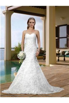 Trumpet/Mermaid Zipper-up All Sizes Natural Sleeveless Floor-Length Sweetheart Chic & Modern Wedding Dress