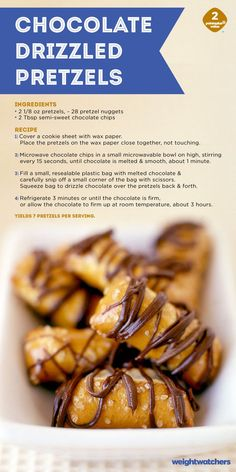 A little bit salty, a little bit sweet and a whole lot of yummy. These Chocolate Drizzled Pretzels are a delicious grab and go snack!
