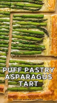 This Asparagus tart is made so easy using puff pastry! It's the perfect appetizer, brunch, lunch, or light meal that you can make when asparagus is in season! Flaky, light and buttery puff pastry layered with garlicky cream cheese and savory Gruyere cheese, topped with well seasoned roasted asparagus. Delicious! Best Lunch Recipes, Delicious Dinner Recipes, Beef Recipes, Soup Recipes, Vegetarian Recipes, Cooking Recipes, Asparagus Tart, Gruyere Cheese, Well Seasoned