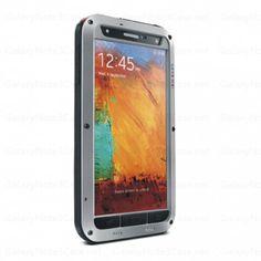 Lovemei Solid Aluminum Bumper Case For Galaxy Note 3 N9000 Silver Black