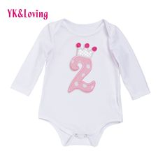 Newborn Baby Boy Girl Clothes Long Sleeve 1st Birthday Baby Rompers Spring Autumn Baby Clothing 1Pc Baby Product  Jumpsuits #Affiliate