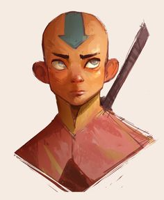 "eevonn: "" More portrait practice fer tonights sketch. Trying to stay loose and be more conscious about a more limited color palette :v "" Avatar Aang, Team Avatar, The Last Avatar, Avatar The Last Airbender Art, Avatar Series, Zuko, Cartoon Shows, Legend Of Korra, Cultura Pop"