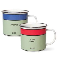 Monopoly Mug Fleet Set, $16.50, now featured on Fab. [Gift Republic]