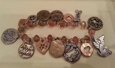 Vintage bracelet beads with charms for dog lovers in Jewelry & Watches | eBay
