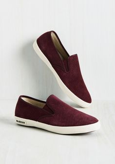 Nicole Distressed Suede Slip On Sneakers