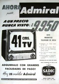 Ad ADMIRAL  1953