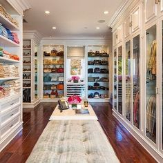 """""""Dream closet inspo! While I totally wish I had a closet this huge, I live in a 1,200 square foot apartment in downtown  Vancouver • so this is pretty much…"""""""
