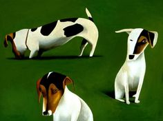 Dogs are a favorite subject for famous artist, Mark Ulriksen. Painting by Mark Ulriksen