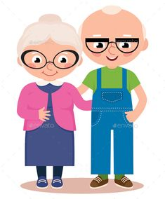 Buy Old Married Couple by JelizaRose on GraphicRiver. Stock Vector cartoon illustration of an old married couple isolated on a white background Grandparents Day Cards, Old Married Couple, Old Couples, Fathers Day Crafts, Couple Cartoon, Cute Cartoon Wallpapers, Free Illustrations, Cute Pictures, Bike Helmets