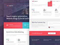 PinkPoint Homepage Design