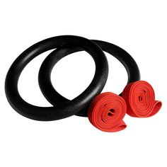 OneFitWonder Black Gymnastic Rings Fixed Straps for CrossFit & strength training #OneFitWonder