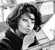 Sophia Loren. I love her makeup for when I'm feeling bold.