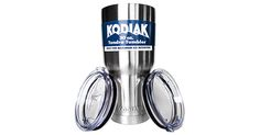 Camp Kitchen - Kodiak Coolers Vacuum Insulated Tumbler Two Lids Stainless Steel Double Wall Thermal Coffee Travel Cup Rambler Mug Thermos BPA Free Compare to Yeti Contigo Hold Ice Over 24 Hours ** Learn more by visiting the image link. Travel Cup, Coffee Travel, Web Design, Me Time, Insulated Tumblers, Giveaway, Hold On, Cool Stuff, Free Stuff